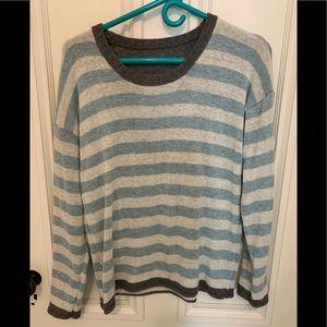 Gray/Cream/Turquoise Josie Sweater Medium